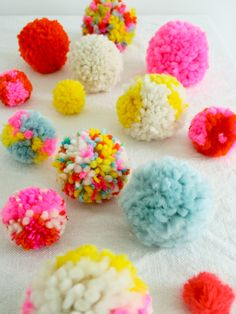 colorful poms | Life in Color