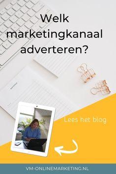 Welk kanaal kies jij om te adverteren? Hoe wordt je nou als ondernemer zichtbaar voor jouw doelgroep? Lees het blog over de verschillende marketingkanalen.  #googleads #socialmedia #onlinemarketing Online Marketing, Google Ads, Om, Polaroid Film