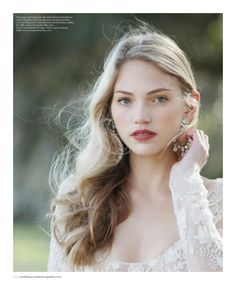 Dress by Monique Lhuillier, featured in the Spring/Summer 2016 issue of Weddings Unveiled. Vintage earrings from House of Lavande. Photographed at Boone Hall Plantation & Gardens in Mount Pleasant, SC.