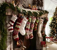 Christmas hen idea - hang stockings on the mantlepiece and fill them with hen party goodies for all the hens!