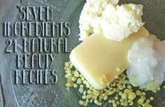 Natural beauty recipes and ingredient list so that you can make your own toiletry products from deodorant to lotion to shampoo!
