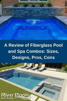 Searching for the best fiberglass pool and spa combo for your home? Here's a review of some of the best designs from the top fiberglass pool manufacturers! #swimmingpools #fiberglasspools #ingroundpools