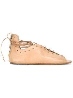 MARSÈLL Lace-Up Flat Sandals. #marsèll #shoes #flats