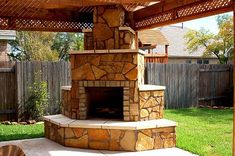 covered patio ideas | The Outdoor Fireplace and Covered Patio Co-exist Beautifully Together ...