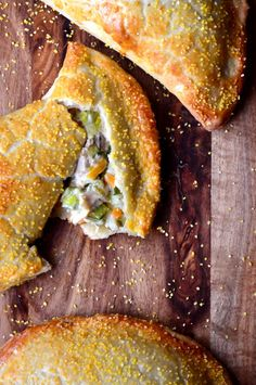 Chicken and Leek Pasties - a creamy pasty, made with classic hot water crust pastry.