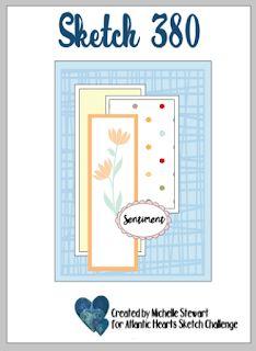 Atlantic Hearts Sketch Challenge : Sketch 380 Scrapbook Sketches, Scrapbook Page Layouts, Card Sketches, Scrapbook Pages, Heart Sketch, Morning Dew, Heart Cards, Hero Arts, Close To My Heart