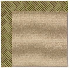 Zoe Sisal Machine Tufted Mossy Green/Brown Area Rug