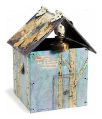 (Cloth, Paper, Scissors tutorial) House Collage Assemblage Project