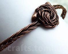 Copper bangle bracelet copper wire bracelet copper by tomicraft Stackable Bracelets, Bangle Bracelets, Bangles, Copper Rose, Copper Bracelet, Handcrafted Jewelry, Jewelry Making, Wire, Pattern