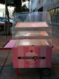 What fun cupcake cart!