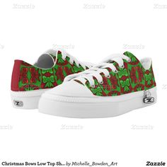 Christmas Bows Low Top Shoes Printed Shoes