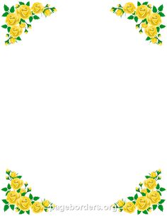 Printable yellow flower border Use the border in Microsoft Word