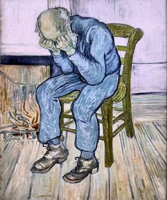 Van Gogh, Old Man in Sorrow (On the Threshold of Eternity), April-May 1890. Oil on canvas, 81 x 65 cm. Kröller-Müller Museum, Otterlo. (via Van Gogh: The Life on Facebook)