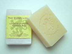 Lemon and Lavender Shampoo Bar by DandyLionsApothecary on Etsy
