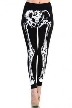 LoveMelrose.com From Harry & Molly | Skeleton bone leggings from Love Melrose