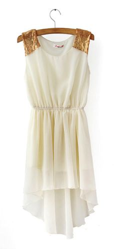 High Low Dress In White