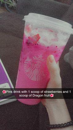 Starbucks Specialty Drinks, Cold Starbucks Drinks, Starbucks Secret Menu Drinks, Coffee Drinks, Strawberry Starbucks Drink, How To Order Starbucks, Starbucks Refreshers, Pink Drinks, Starbuck Drinks