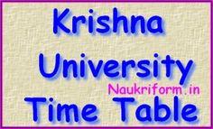 Krishna University Time Table- Date Sheet