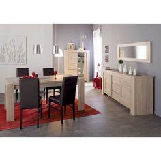 Salle à manger design coloris beige mat/wengé Geralda | Design