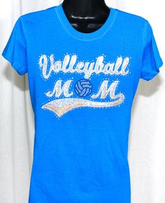 e7eff0d90315 ON SALE - Volleyball Mom Ultimate Sequins and Rhinestone Bling T-Shirt  (Size Fitted LG)
