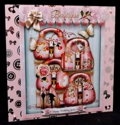 Pink Ladies Handbags Boutique Card Mini Kit  by Allen Bowen
