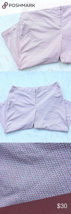 {Lane Bryant} Polka Dot Cropped Pants Pretty Lane Bryant Polka Dot Cropped Ankle Business Casual pants in great condition! Size 26. Lane Bryant Pants Ankle & Cropped