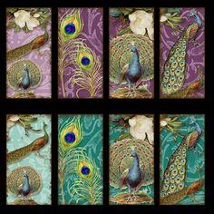 Vintage Peacocks digital paper