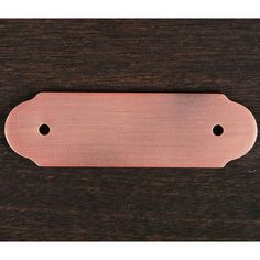 This distressed copper finish cabinet pull backplate with plain edge and round ends design from RK International is perfect for combining with cabinet pulls for an additional decor touch to your cabinets.