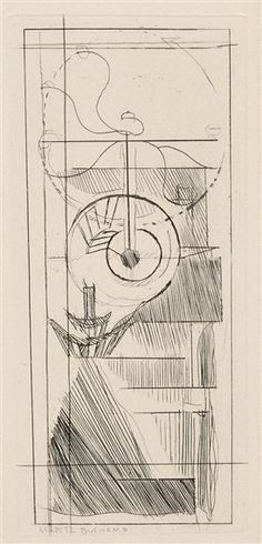 Artwork by Marcel Duchamp, Coffee Mill, from Du cubisme, Made of Etching on buff wove paper