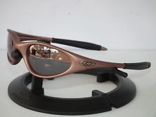 oakley minute blue sunglasses  vintage oakley minute 1.0 sunglasses 04 508 fmj copper / vr28 black iridium gen2