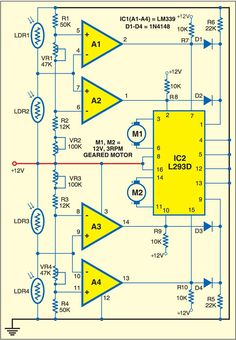Fig. 1: Circuit of solar tracking system