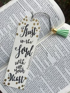 Handmade bible verse bookmark by LyndsieRooksCreation on Etsy https://www.etsy.com/listing/268684101/handmade-bible-verse-bookmark
