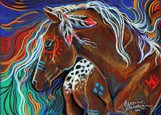 Native American War Horses | RUNNING WATERS INDIAN WAR HORSE - by Marcia Baldwin from Animals