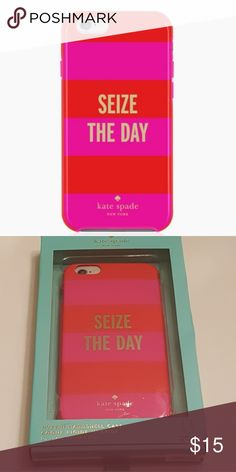 "NEW KATE SPADE SEIZE THE DAY IPHONE 6 PLUS CASE Kate Spade ""Seize The Day"" Hybrid Hardshell case for IPhone 6 Plus. New in box. kate spade Accessories Phone Cases"