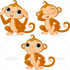 tattoo monkey hear no evil - Google Search