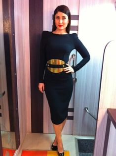 #KareenaKapoor at a recent event in a stunning black dress. Does she look hot or not?