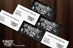 Noir et Blanc logo and business card design by SammyJackles