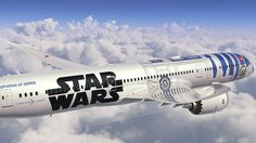 Japanese airliner ANA just announced the Jet—a Boeing Dreamliner painted to look like the iconic Star Wars' droid. The aircraft will take off this fall and will serve to promote the Star Wars: The Force Awakens film. Air New Zealand, Ana Airlines, Boeing 787 9 Dreamliner, War Jet, Airbus A320, Airplane Painting, Jumbo Jet, Star Wars Celebration, Commercial Aircraft