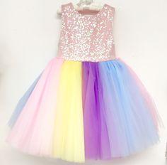 Pastel Unicorn Glam Tutu Dress - Belle Threads