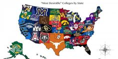 The Most Desirable College In Each State. Of course the Gamecocks are representing South Carolina.