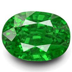 2.38-Carat Oval-Cut Rich Chrome Green Kenyan Tsavorite Garnet