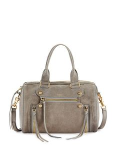 Logan Grained Leather Zip Satchel, Granite by Botkier at Neiman Marcus Last Call.