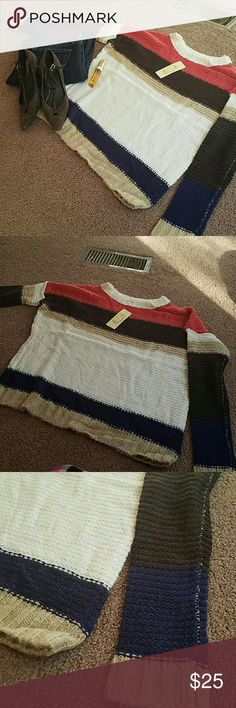Gorgeous sweater Brand new with tags...small and medium size. Sweaters