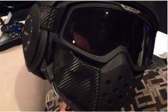 Shark Raw with Carbon Fiber face shield - good idea.