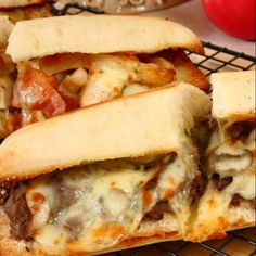 This cheese and steak sandwich recipe is packed with flavor.