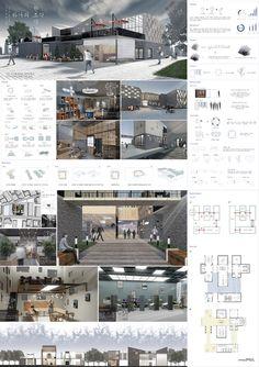 Interior Design Presentation, Architecture Presentation Board, Architecture Board, Architecture Design, Futuristic Home, Poster Layout, Design Process, Portfolio Design, Building Design