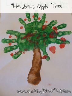 Hand print Apple Tree @ Loving My Nest