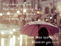 Image uploaded by Dori (:. Find images and videos about pretty, Taylor Swift and Lyrics on We Heart It - the app to get lost in what you love. Pink Umbrella, Under My Umbrella, Umbrella Lights, Walking In The Rain, Singing In The Rain, Sparks Fly Taylor Swift, Fly Lyrics, Love Rain, Brenda Song