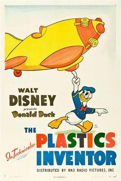 Poster from The Plastics Inventor Disney Movie Posters, Best Movie Posters, Classic Movie Posters, Disney Films, Disney Pixar, Disney Characters, Cartoon Posters, Cartoons, Walt Disney