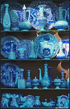 Dreaming of exploring a market someplace exotic? Istanbul is the destination for you. Dreaming of exploring a market someplace exotic? Istanbul is the destination for you. Love Blue, Blue And White, Color Blue, Soho House Istanbul, Aqua, Cobalt Blue, Foto Poster, Color Turquesa, Four Seasons Hotel